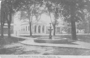Downtown Park Square long ago